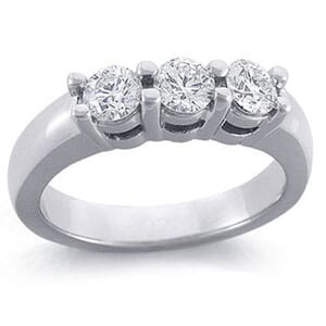 4167 -  Three-Stone Ideal-Cut Diamond Band