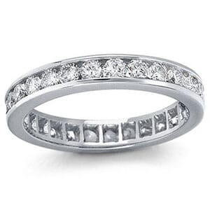 4207 -  Channel-Set Diamond Eternity Band (1 Ct. Tw.)