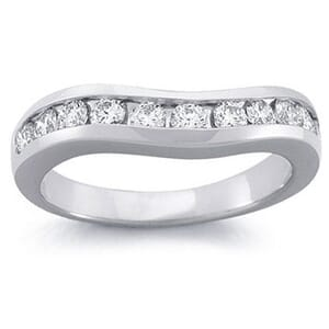 4222 -  Curved Channel-Set Diamond Band (1/2 Ct. Tw.)
