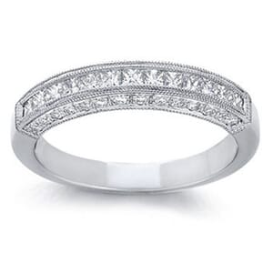 4257 -  Princess-Cut And Pavé-Set Diamond Band