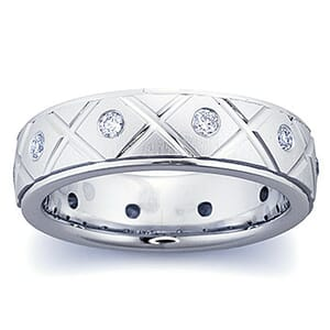 4282 - Diamond Ring Set With Round Brilliant Diamonds (0.35 Ct. Tw.)