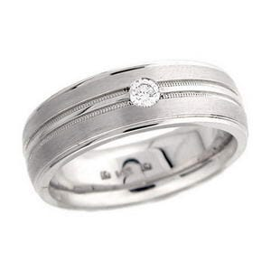 4347 - Diamond Ring Set With Round Brilliant Diamond (0.15 Ct. Tw.)