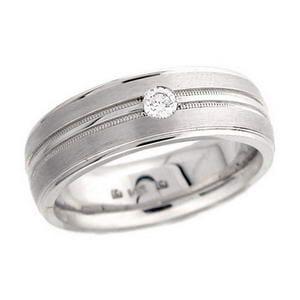 4347 - Diamond Ring Set With Round Brilliant Diamond (0.15 Ct. Tw.)