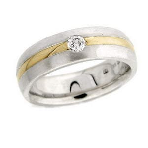 4362 - Diamond Wedding Ring 0.2 Carat, Set With Round Brilliant Diamonds