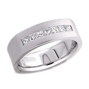 4382 - Diamond Ring Set With Princess Cut Diamonds (0.6 Ct. Tw.)