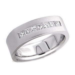 4382 - Diamond Ring Set With Princess Cut Diamonds (0.6 Ct. Tw.)