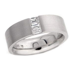 4387 - Diamond Ring Set With Emerald Cut Diamonds (0.40 Ct. Tw.)