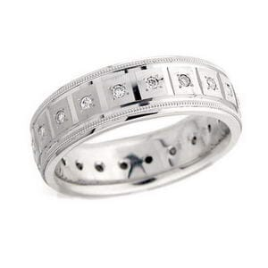 4407 - Diamond Wedding Ring 1/4 Carat, Set With Round Brilliant Diamonds