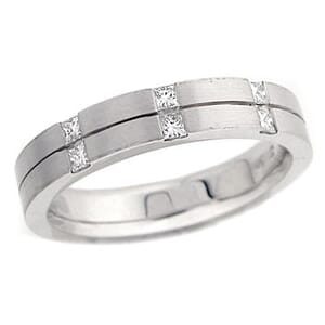 4422 - Diamond Wedding Ring 1/4 Carat, Set With Round Brilliant Diamonds