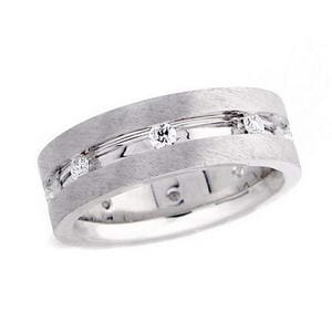4452 - Diamond Wedding Ring 1/2 Carat, Set With Round Brilliant Diamonds