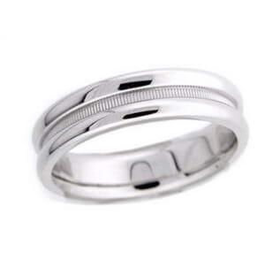 4477 - 5.75 Mm  Wedding Ring 7.7 Grams