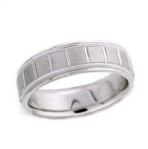 4497 - 6 Mm  Wedding Ring 8.7 Grams