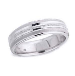 4507 - 6 Mm  Wedding Ring 8.7 Grams