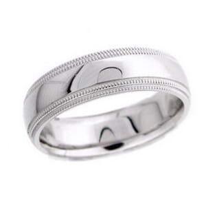 4537 - 6 Mm  Wedding Ring 8.8 Grams