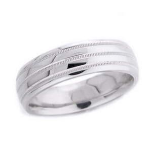 4572 - 6 Mm  Wedding Ring 8.9 Grams