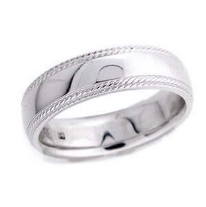 4577 - 6 Mm  Wedding Ring 9.2 Grams