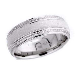 4587 - 7.25 Mm  Wedding Ring 10.7 Grams