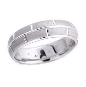 4592 - 6 Mm  Wedding Ring 8 Grams