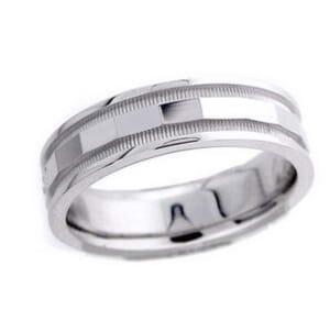 4602 - 6 Mm  Wedding Ring 9 Grams