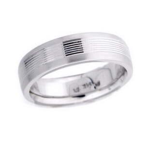4612 - 6 Mm  Wedding Ring 10.3 Grams
