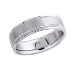 4622 - 6 Mm  Wedding Ring 8.8 Grams