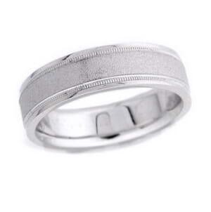 4627 - 6 Mm  Wedding Ring 9.2 Grams