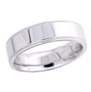 4672 - 6 Mm  Wedding Ring 9.8 Grams