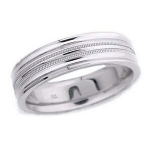 4722 - 6 Mm  Wedding Ring 8.9 Grams
