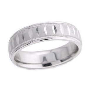 4757 - 6 Mm  Wedding Ring 8 Grams