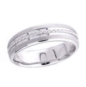 4782 - 6 Mm  Wedding Ring 7.5 Grams