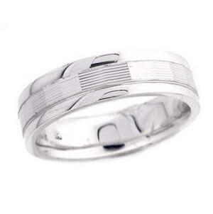 4812 - 6 Mm  Wedding Ring 8.7 Grams