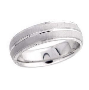 4822 - 6 Mm  Wedding Ring 8.8 Grams