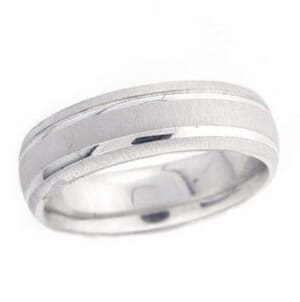4862 - 6 Mm  Wedding Ring 9.2 Grams
