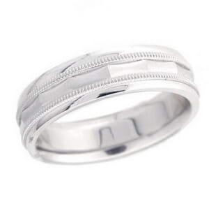 4872 - 6 Mm  Wedding Ring 8.7 Grams