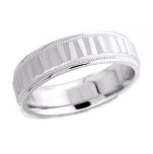 4882 - 6 Mm  Wedding Ring 8.2 Grams