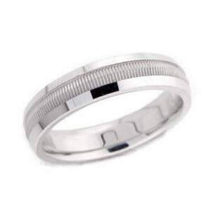 4907 - 5 Mm  Wedding Ring 7.7 Grams