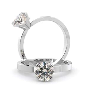 4987 -  Solitaire Diamond Engagement Ring