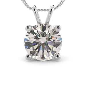 5046 - 4 prongs solitaire pendant