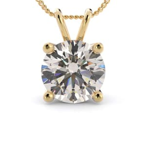 5047 - 4 prongs solitaire pendant