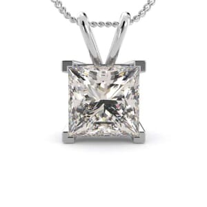 5051 - princess cut solitaire pendant setting
