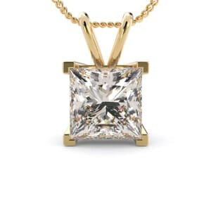 5052 - princess cut solitaire pendant setting