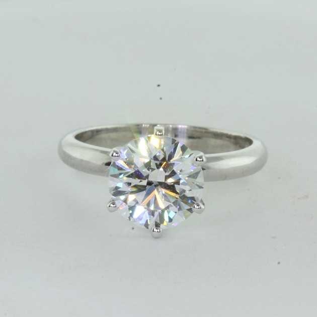 2.09 carat round brilliant diamond ring