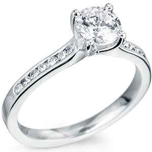 5116 -  Diamond Engagement Ring With Side Stones (0.70 Ct. Tw)