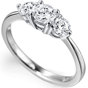 5121 -  Three Stone Diamond Engagement Ring (0.50 Ct. Tw)