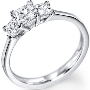 5126 -  Three Stone Diamond Engagement Ring (0.50 Ct. Tw)