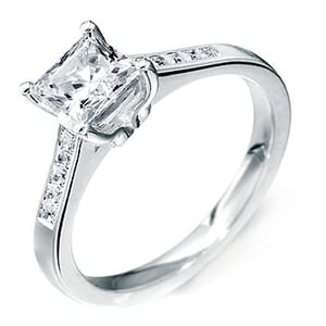 5136 -  Diamond Engagement Ring With Side Stones (0.70 Ct. Tw)
