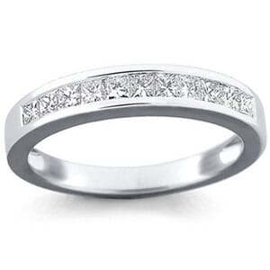 5166 -  Channel-Set Princess-Cut Diamond Band (0.65 Ct. Tw.)