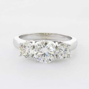 5296 - 3 stones engagement ring setting