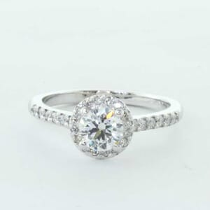 5310 - Halo engagement ring for round brilliant diamond