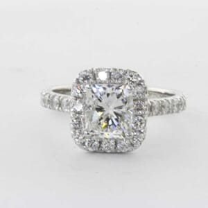5312 - Halo engagement ring setting